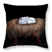 Mary Had A Little Lamb Throw Pillow