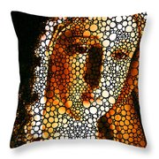 Mary - Holy Mother By Sharon Cummings Throw Pillow