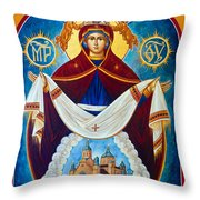 Mary In Red Throw Pillow