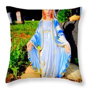 Mary In Sunlight Throw Pillow