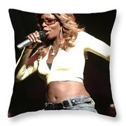 Mary J. Blige Throw Pillow