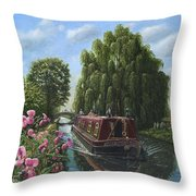 Mary Jane Chesterfield Canal Nottinghamshire Throw Pillow