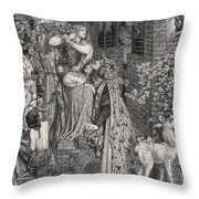 Mary Magdalene At The Door Of Simon Throw Pillow
