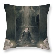 Mary Magdalene At The Sepulchre Throw Pillow by William Blake