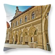 Mary Of Bistrica Shrine Architecture  Throw Pillow