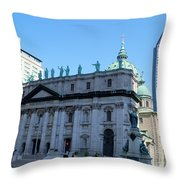 Mary Queen Of The World Cathedral Throw Pillow