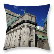 Mary Queen Of The World Cathedral Montreal Throw Pillow
