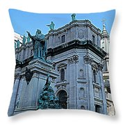 Mary Queen Of The World Cathedral - Side View In Hdr Throw Pillow