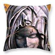 Mary Super Petram - Study No. 1 Throw Pillow by Steve Bogdanoff
