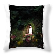 Mary Virgin And Mother Reconciler Of All People And Nations Of Betania Throw Pillow