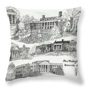 Mary Washington College Throw Pillow
