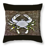 Maryland Country Roads - Camo Crabby 1a Throw Pillow