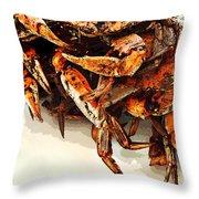 Maryland Crabs Throw Pillow
