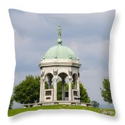 Maryland Monument - Antietam National Battlefield Throw Pillow