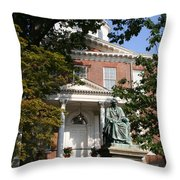 Maryland State House And Statue Throw Pillow