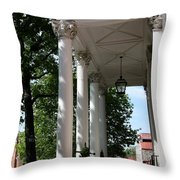 Maryland State House Columns Throw Pillow