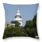 Maryland State House Cupola Throw Pillow
