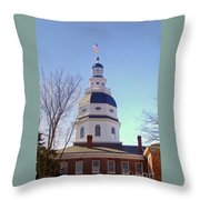 Maryland State House Dome Throw Pillow