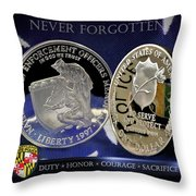 Maryland State Police Throw Pillow