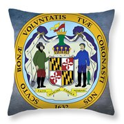 Maryland State Seal Throw Pillow
