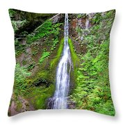Marymere Falls - Full View Throw Pillow