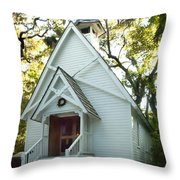 Mary's Chapel Throw Pillow