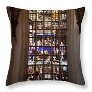 Mary's Deathbed Religious Art In Oude Kerk Throw Pillow