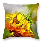 Marys Garden Throw Pillow