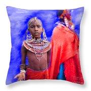 Masai Throw Pillow