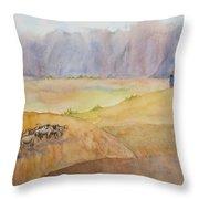 Masai Village Throw Pillow