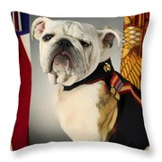 Mascot Of The United States Marine Corps Throw Pillow