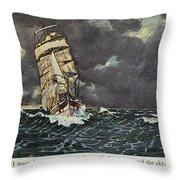 Masefield Sea Fever, 1902 Throw Pillow