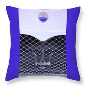 Maserati Emblems Throw Pillow