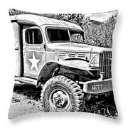 Mash Medic In Black And White Throw Pillow