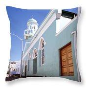 Masjid Boorhaanol Bo Kaap Throw Pillow