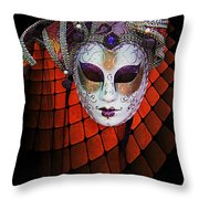 Mask 1 Throw Pillow