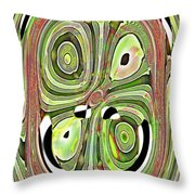 Mask 10 Curled Up Throw Pillow