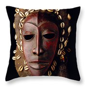 Mask From Ivory Coast Throw Pillow