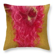 Mask Pastel Chalk 1 Throw Pillow