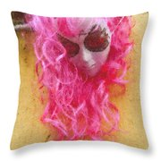 Mask Pastel Chalk 2 Throw Pillow