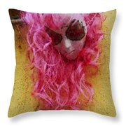 Mask Water Color 1 Throw Pillow