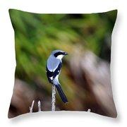 Masked Bird Throw Pillow