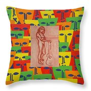Masks 2 Throw Pillow by Patrick J Murphy