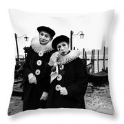 Masks In Venice Throw Pillow