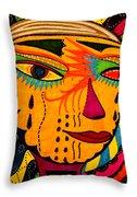 Masks We Wear - Face Throw Pillow