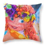 Maslenitsa Dolls 1. Russia Throw Pillow