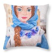 Maslenitsa Dolls 8. Russia Throw Pillow