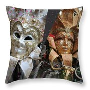 Masquerade Craziness Throw Pillow