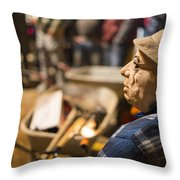 Masquerade Farmer Throw Pillow