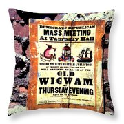 Mass Meeting At Tammany Hall Throw Pillow